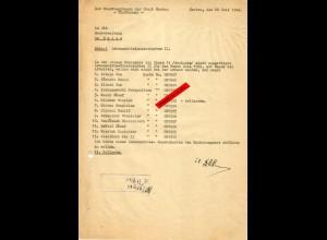 GG: Lebensmittelzusatzkarten II: 13x Rücksendung da Arbeiter nicht da waren 1943