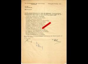GG: Lebensmittelzusatzkarten II: 14x Rücksendung da Arbeiter nicht da waren 1943