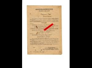 GG: Ablieferungsbescheid für Milch, Galizien 1943