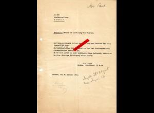 GG: Gesuch um Zuteilung von Punkten für 3-jähriges Kind, 4. Januar 1944 Krakau