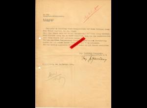 GG: Bitte um Zuteilung Bezugschein für Anzug, Thorn/Krakau 1944
