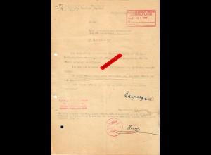 GG: Bitte um Zuteilung Bezugschein für Wäsche, Arbeiter Krakau 1944