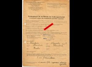 GG: Erhebungsbogen für Betriebe der Ernährungswirtschaft: Chmielnik/Busko 1942