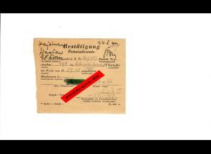 GG: Ablieferungsschein 1944