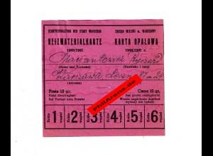 GG: Heizmaterialkarte 1940/41 der Stadt Warschau: Kohle