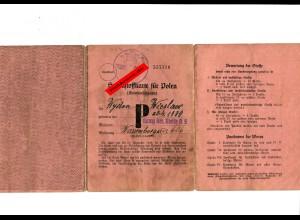 Spinnstoffkarte für Polen, Kleinkinderkarte: Kenty, Kreis Bielitz O.S.