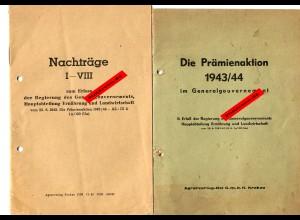 GG: Die Prämienaktion 1943-44 mit den Nachträgen. SELTEN