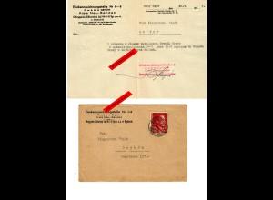GG: Eierkennzeichnungsstelle Neu Sandez 1943: Brief mit Inhalt nach Grybow