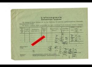 GG: Lieferungsavis für die Landwirtschaftliche Zentralstelle Krakau, Formular