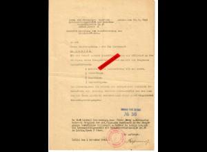 GG: Antrag auf Zuteilung von Berufskleidung 1943, Lublin