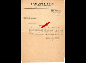 GG: Saatgutstelle Kazimierza: Bescheinigung Fortführung Saatguthandel 1941