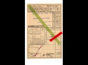 GG: Stromrechnung Warschau 1941 mit Einlieferungsschein für Bezahlung PschA