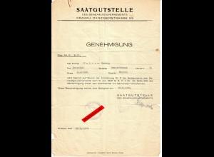 GG: Genehmigung Saatgutstelle Jaroslau für Kleinhandel mit Sämereien 1942