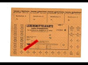 GG: Lebensmittelkarten für Nichtdeutsche Kinder bis 14 Jahre,