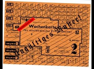 Wochenkarte für ausländische Zivilarbeiter: Muster 1944; Berlin