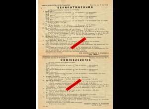 GG: Bekanntmachung Stadthauptmann Warschau: Lebensmittelkarten 1942