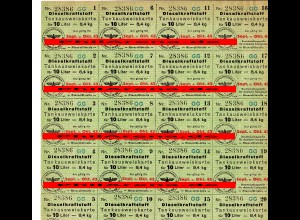 GG: Dieselkraftstoff 20 Liter, Sept./Okt. 1943: Tankausweiskarte