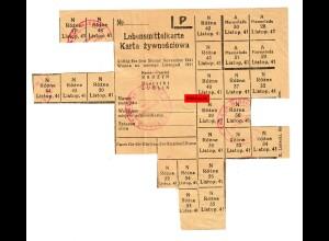 GG: Lebensmittelkarte Radzyn/Lublin 1941