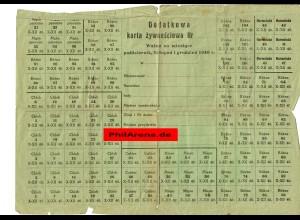 GG: Lebensmittelkarte 1940 / Dienstausweis Hilfsinspektor Kozlow 1943