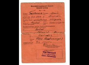 GG: Beschäftigungsnachweis Radom 1943