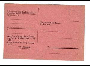GG: Blanko Postkarte Arbeitsamt mit Aufforderung zur Vorstellung