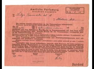 GG: Amtliche Vorladung Arbeitsamt Neu Sandez: Soltys 1940