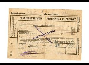 GG: Arbeitsamt Lublin 1940, Anwerbung Landarbeiter, Flüchtlingslager Chelm
