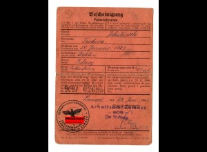 GG: Arbeitsamt Zamosc, 1942, Verkäuferin Pulawy/Deblin