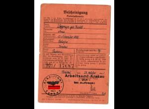 GG: Arbeitsamt Krakau 1941: Packerin