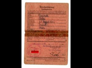 GG: Arbeitsamt Kielce 1940: Cminsk/Kielce: Hilfs-Zimmerer