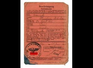 GG: Arbeitsamt Warschau 1942: Lehrerin/Tworki