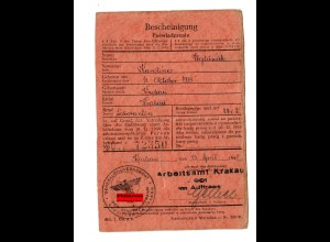 GG: Arbeitsamt Krakau 1943: Laborantin