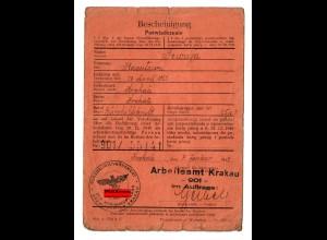 GG: Arbeitsamt Krakau 1943: Bürohilfskraft