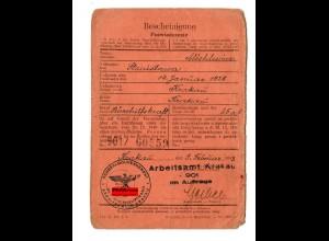 GG: Arbeitsamt Krakau Februar 1943: Bürohilfskraft