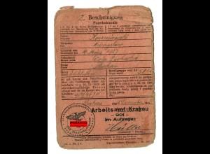 GG: Arbeitsamt Krakau 1943: Elektriker Wola Duchacka