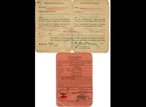 GG: Bescheinigung Kreditbank Warschau, Bankangestellter 1940