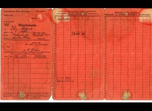 GG: Meldekarte -W- Arbeitsamt Neu Sandez 1942, Hausgehilfin Mrzana Dolna