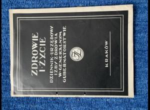 Zdrowie I Zycie, Dziennik Urzedowy Izby Zdrowia: Generalgouvernement Nr. 4, 1940