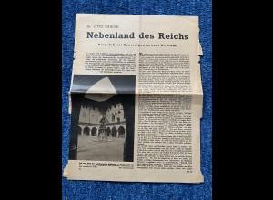 GG: Artikel über 3 Seiten: Nebenland des Reiches