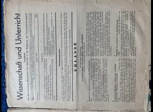 GG: 2x Wissenschaft und Unterricht Januar/Februar 1944