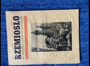 GG: RZEMIOSLO: Handwerker Zeitung im Generalgouvernement 1943, polnisch