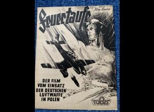 GG: Feuertaufe: Film Kurier TOBIS, 4 Seiten, saubere Erhaltung, Luftwaffe