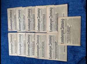 GG: 14x Lemberger Zeitung: Mai/Juni 1944