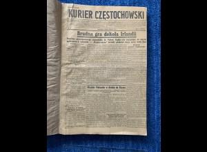 GG: Kurier Czestochowski 1.4.-28.6.1941, gebunden, saubere Erhaltung