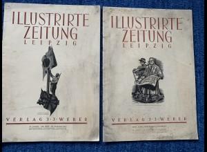 Illustrierte Zeitung Leipzig: 2 Jahre GG 1941, Sonnenrad, Division im Osten 1942