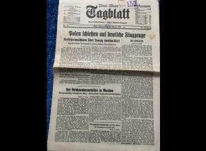 Neues Wiener Tagblatt: 24.8.1939: Kurz vor Polenfeldzug