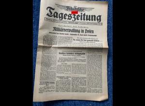 GG: Fränkische Tageszeitung 28.9.1939: Militärverwaltung in Polen