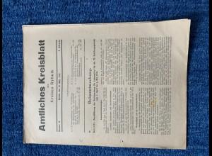 GG: Amtliches Kreisblatt Rybnik: 26.3.1941: Kartenstystem für Lebensmittel, ...
