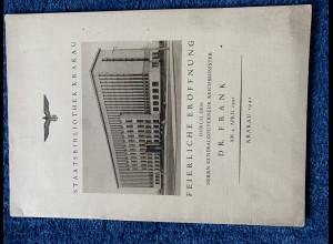 GG: Staatsbibliothek Krakau: Eröffnung 4.4.1941, Hochglanzschrift