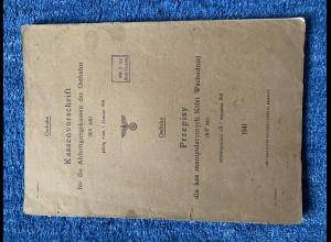 GG: Kassenvorschrift für Abfertigung Ostbahn 1.1.1941